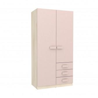 Armario infantil con cajones  Muebles juveniles Armarios juveniles COLORES DISPONIBLES: rosa pastel, azul frozen, piedra Incluye