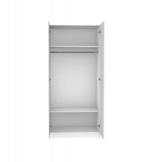 Punhos brancos das portas da cor pastel do wardrobe da