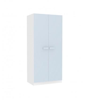 Armario juvenil blanco puertas en colores pastel tiradores grandes Armarios juveniles COLORES DISPONIBLES: azul frozen, gris