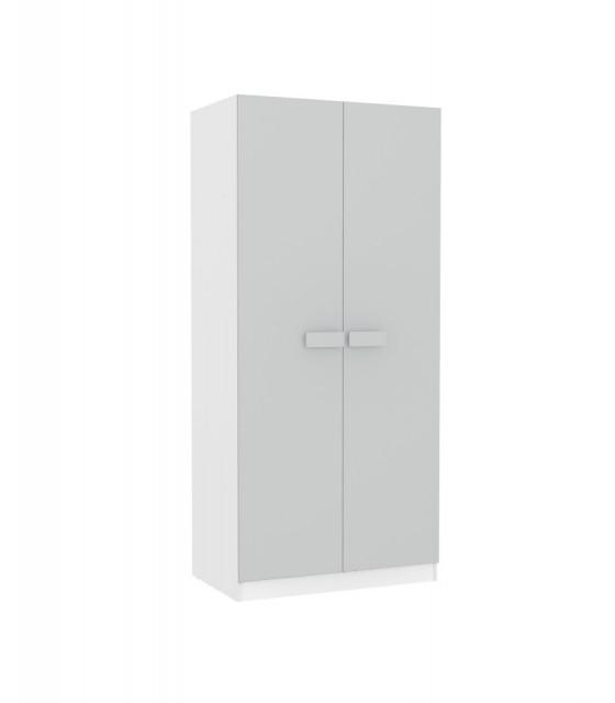 Armario juvenil blanco puertas en colores pastel tiradores grandes