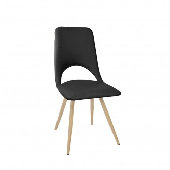 Chaise daminee chauffee  SALLE COLORES DISPONIBLES: negro