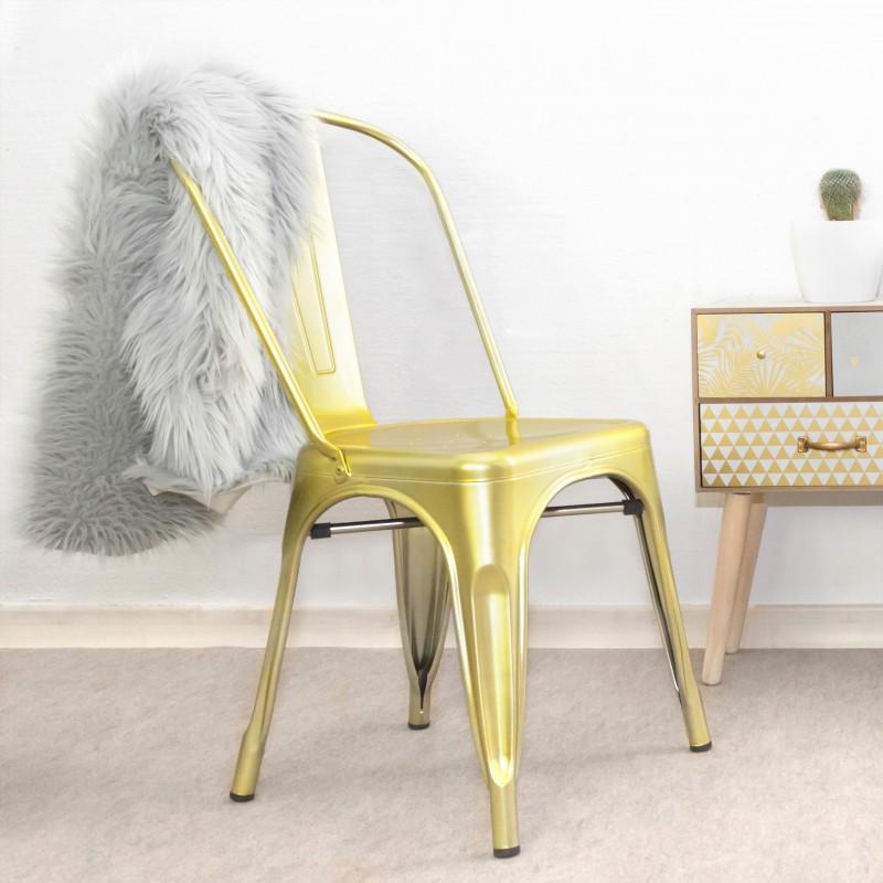 Silla industrial linx deluxe  Salón Sillas de comedor COLORES DISPONIBLES: gold, copper Incluye herramientas: si - incluye