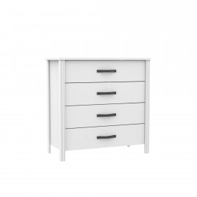 Blanc confortable 4 tiroirs  COMMODE ET CHIFFONIER COLORES