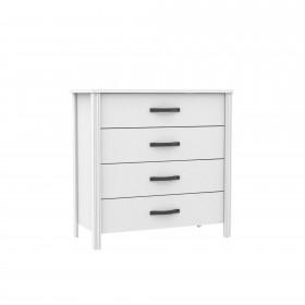 Blanc confortable 4 tiroirs COMMODE ET CHIFFONIER COLORES