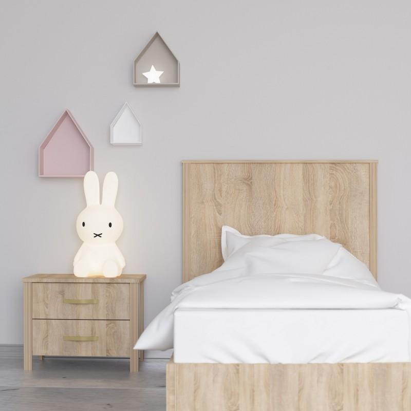 Cabecero madera infantil  Muebles juveniles Cabeceros Infantiles  Color: roble aserrado; Tipo de producto: cabezal; Material