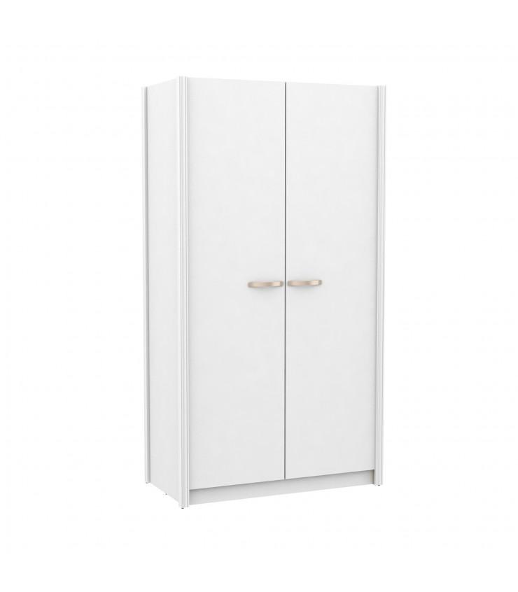 Guarda-roupa duas portas botão branco várias cores