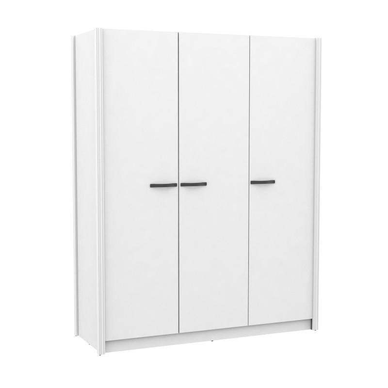Armario tres puertas blanco tirador varios colores  Armarios COLORES DISPONIBLES: gris grafito, dorado, plata Color: blanco;
