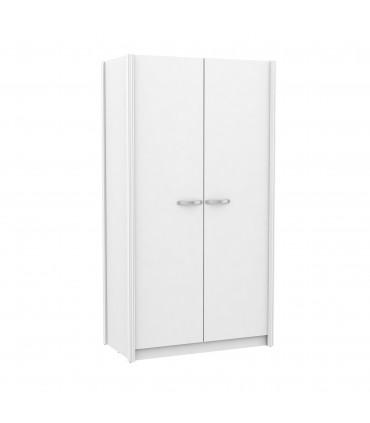 Armario dos puertas blanco tirador varios colores Armarios dormitorio COLORES DISPONIBLES: dorado, plata, gris grafito Color: