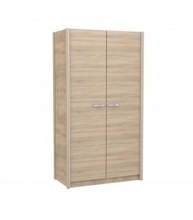 Armoire à deux portes en chêne verona avec poignée en plusieurs