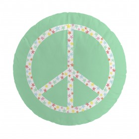 Cojín lonely band peace redondo textil Cojines DISTRIMOBEL Muemue - Muebles