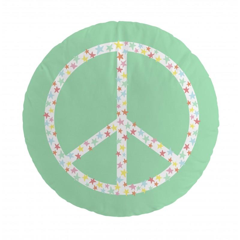 Cojín lonely band peace  Textil   DISTRIMOBEL