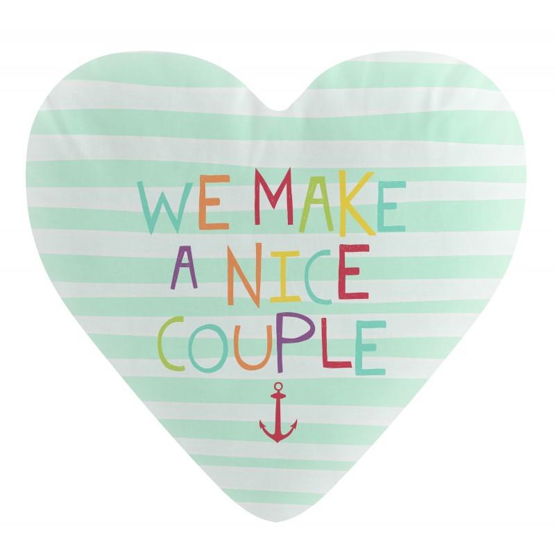 Belle couple couple corazón forme  TEXTILE   DISTRIMOBEL Muemue