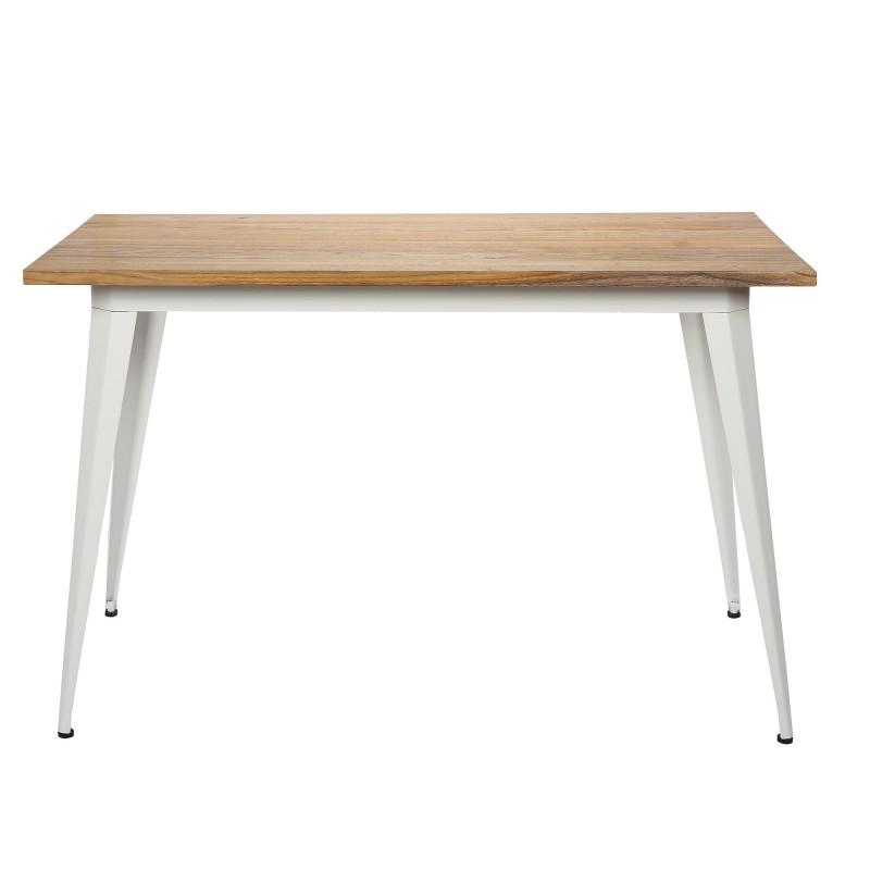 Mesa linx  Salón Mesas de comedor COLORES DISPONIBLES: blanco, negro Color: patas blancas top en olmo claro; Tipo de producto: