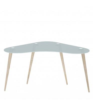 Mesa escritorio cristal templado polaris Home Muebles juveniles Color: translúcido; Tipo de producto: escritorios; Estructura