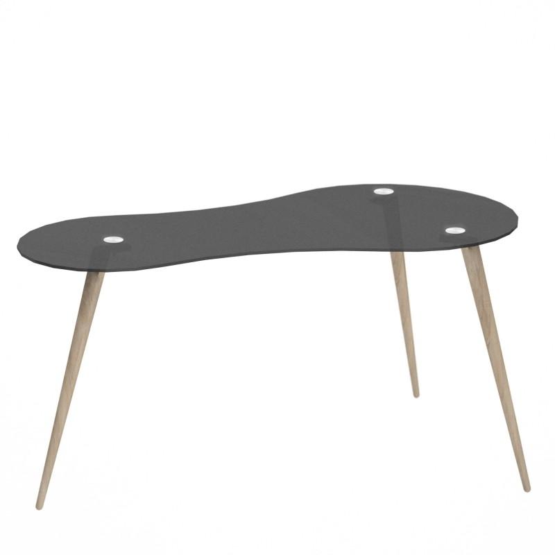 Mesa escritorio cristal templado skat  Home Muebles juveniles  Color: negro; Tipo de producto: escritorios; Estructura / Chasis: