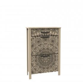 Zapatero 2 puertas 1 cajón Mandala Zapateros COLORES DISPONIBLES: plata, gris grafito, gold El paquete cabe en el ascensor: si