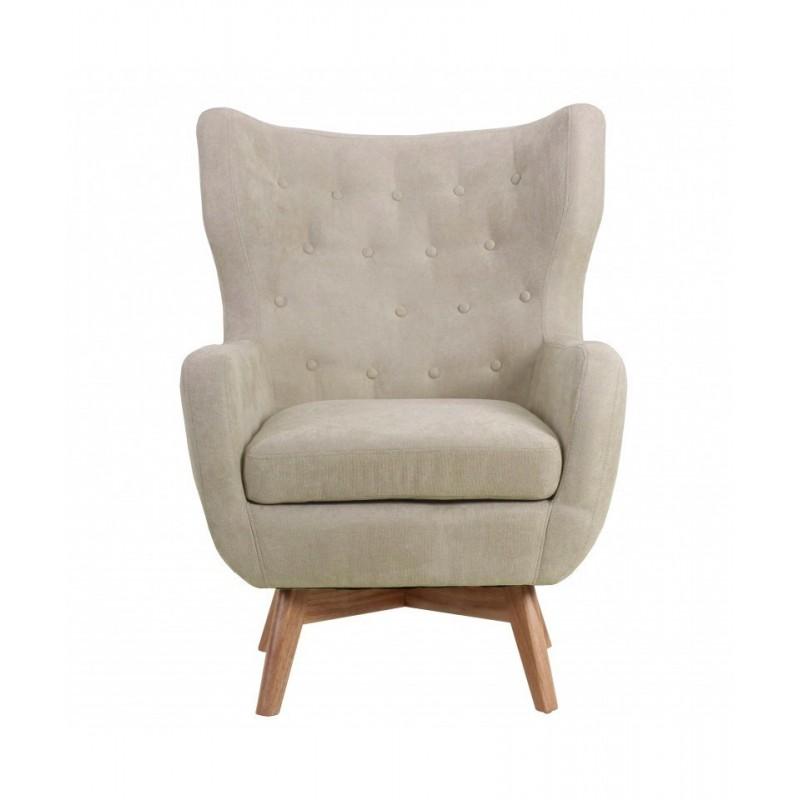 Sillón capitoné  Salón Sofás y sillones COLORES DISPONIBLES: beige, gris Patas: patas en madera de caucho; Tipo de producto: