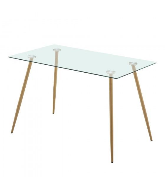 Mesa fija patas metal aserrado