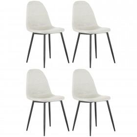 Pack de 4 sillas tapizado/pata negra Home Sillas COLORES DISPONIBLES: beige, gris, negro DISTRIMOBEL Muemue - Muebles