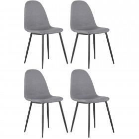 Pack de 4 cadeiras upholstered / pata negra  Importação