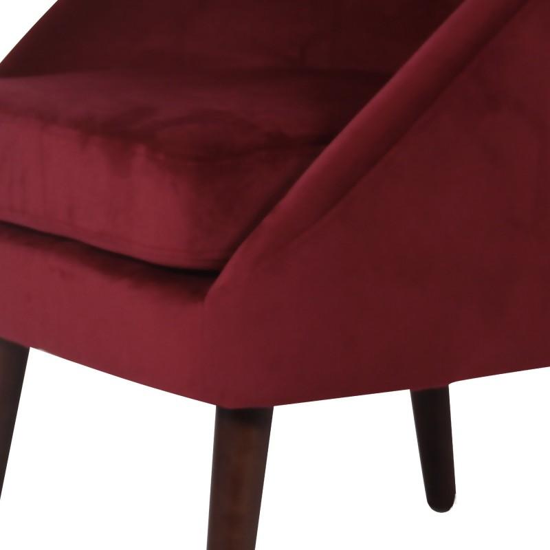 Butaca de terciopelo  Sofás COLORES DISPONIBLES: rojo burdeos, verde oscuro, gris, azul oscuro, rosa pastel El paquete cabe en e