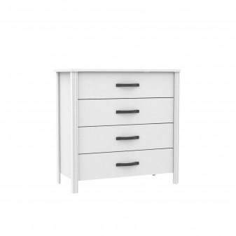 Cómoda verona 4 cajones blanco Home Cargas de producto COLORES DISPONIBLES: dorado, gris grafito, plata Color: blanco; Cajón: 4