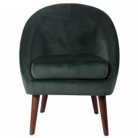 Butaca de terciopelo  Salón Sofás y sillones COLORES DISPONIBLES: rojo burdeos, verde oscuro, gris, azul oscuro, rosa pastel