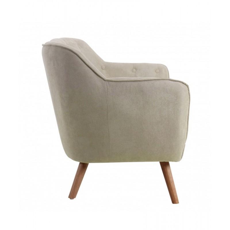 Sofá nórdico dos plazas capitoné  Salón Sofás y sillones COLORES DISPONIBLES: beige, gris Patas: patas en madera de caucho;