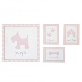Set 3 photos pour les enfants puppy DECORATION The package