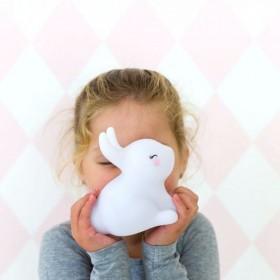 LED CONEJITO BLANCO  Decoración Infantil Guirnaldas y lamparas  Color: blanco; Tipo de producto: lámpara led; Material Principal