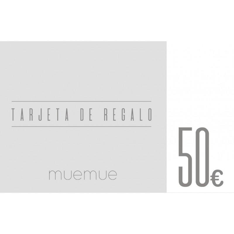 Tarjeta de regalo 50€  Home Tarjetas de regalo    Muemue - Muebles