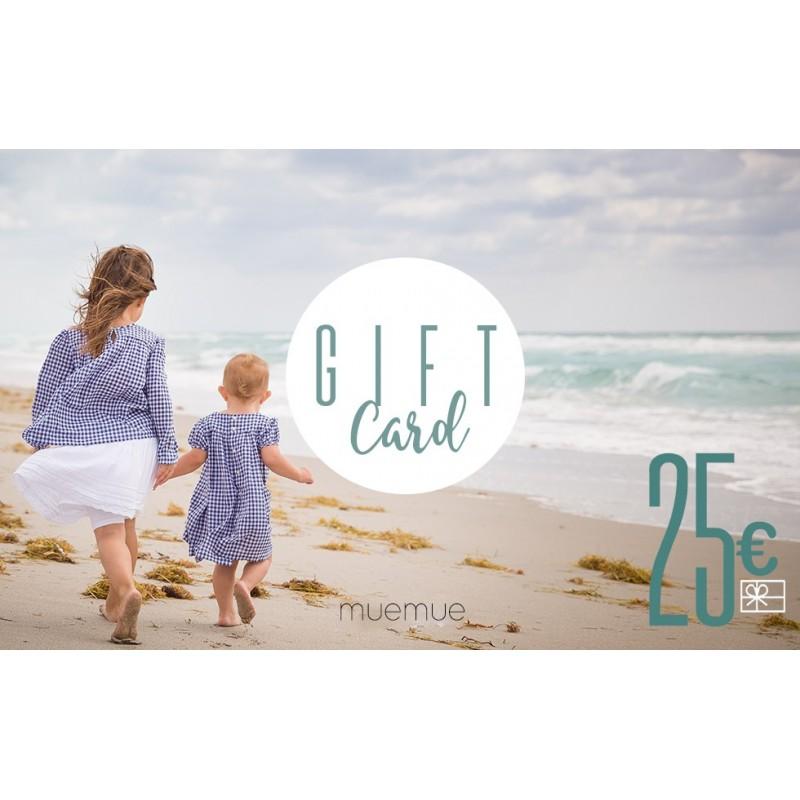 tarjeta de regalo de 25 €  Tarjetas de regalo    Muemue -