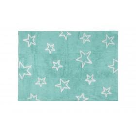 Alfombra Infantil estrella - Lavable (160*120 cm) Alfombras COLORES DISPONIBLES: gris, verde menta El paquete cabe en el