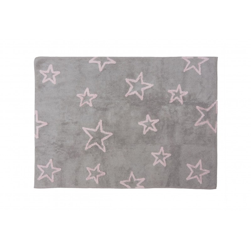Alfombra Infantil estrella - Lavable (160*120 cm)  textil Alfombras COLORES DISPONIBLES: gris, verde menta Incluye herramientas: