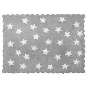 Alfombra Infantil STAR - Lavable (160 x120 Cm) Alfombras COLORES DISPONIBLES: berenjena, gris y blanco, rosa pastel, rojo El