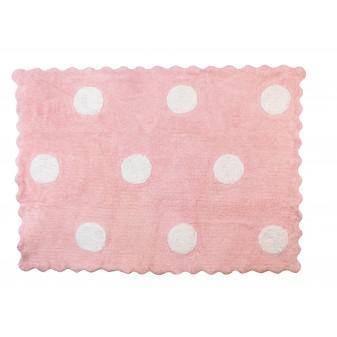 Alfombra Infantil Lunares - Lavable (160 X120 Cm)  textil Alfombras COLORES DISPONIBLES: rosa pastel, beige, gris, azul frozen