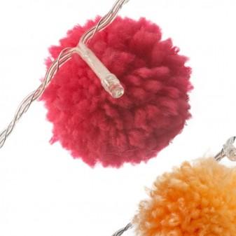Guirnaldas luminosas pompones color Decoración Infantil Guirnaldas y lamparas COLORES DISPONIBLES: gris perla, rosa pastel