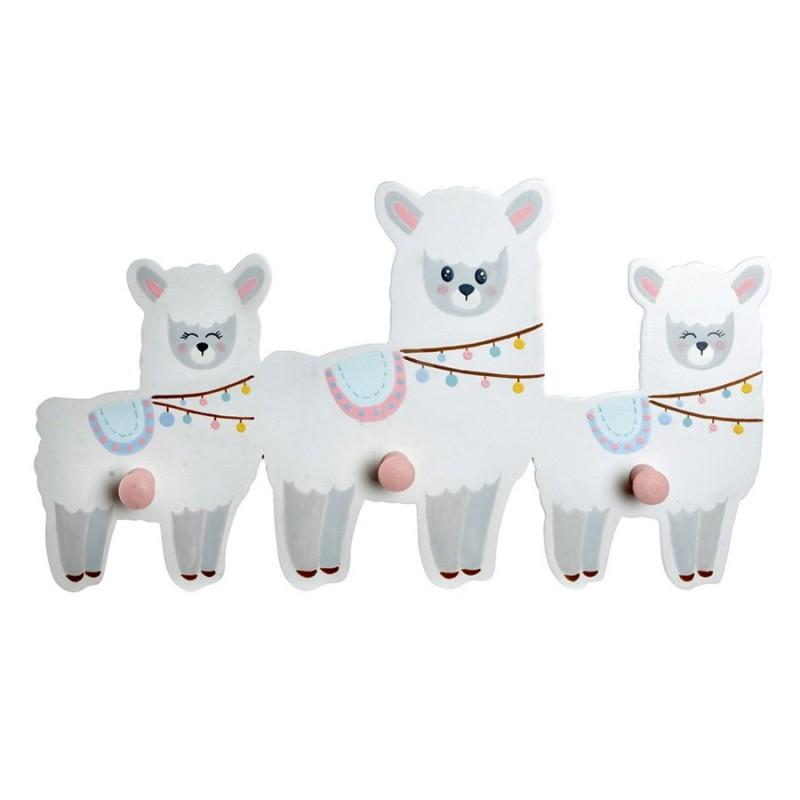 Perchero tres llamas happy