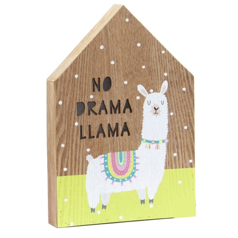 Cuadro con Iluminación happy llama