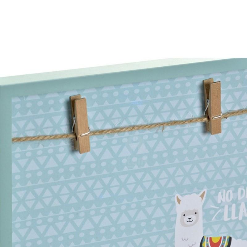 Marco multifotos Llama con pinzas  Decoración Infantil Decoración de pared    Muemue - Muebles