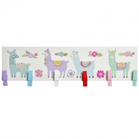 Portafotos Llama De Colores Decoración Infantil Decoración de pared Muemue - Muebles