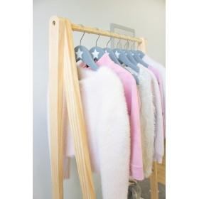Prateleira de casaco branco com 2 gavetas