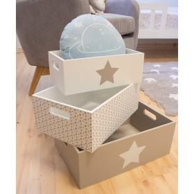 Boîtes décoratives en bois CHAMBRE ENFANT The package fits in