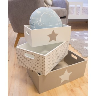 Set cajas de madera decorativas estrella Muebles juveniles El paquete cabe en el ascensor: si - el paquete cabe en el ascensor