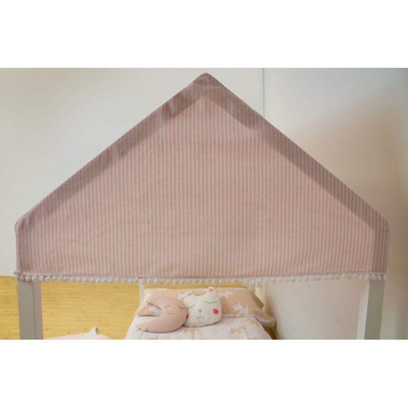 Techo para cama casita montessori pink