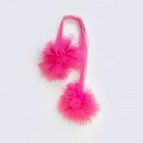 Pompones de tul  textil doseles y techos de tela COLORES DISPONIBLES: gris perla, rosa pastel, magenta, berenjena  MUEMUE Muemue