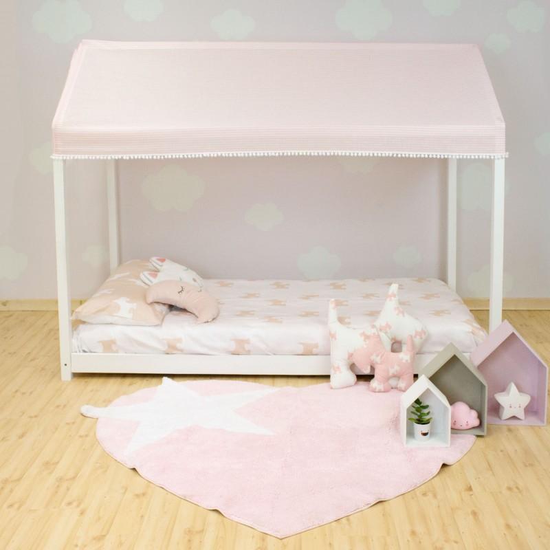 Techo para cama casita montessori pink  textil doseles y techos de tela    Muemue - Muebles