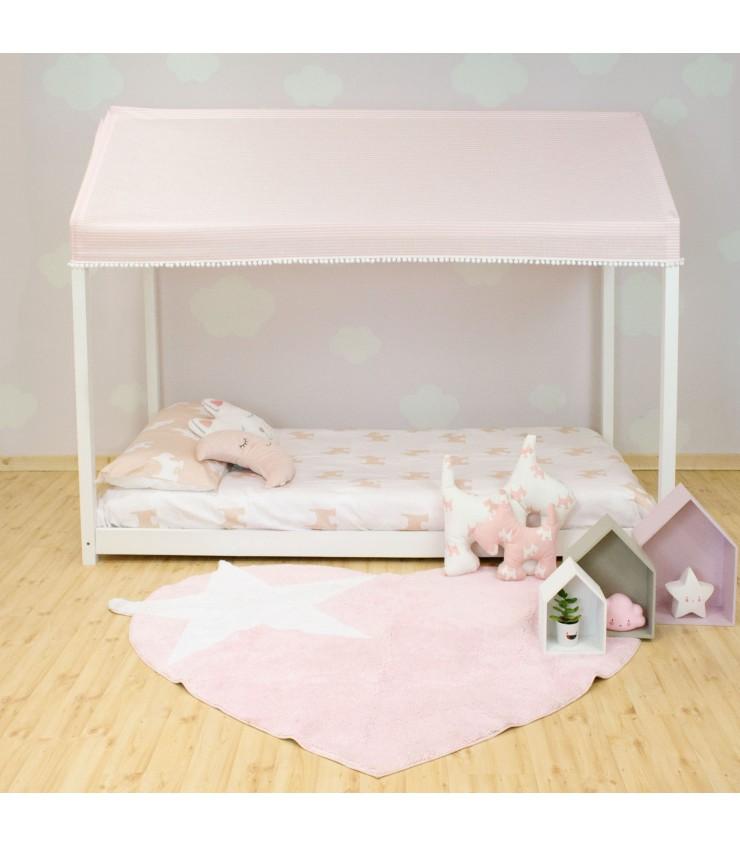 Soffitto per letto casita montessori rosa