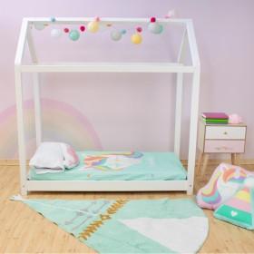 Cama Infantil Montessori casita con barandilla