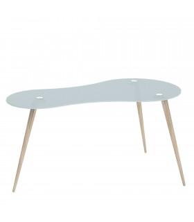 Mesa escritorio cristal templado skat Muebles juveniles Color: negro; Tipo de producto: escritorios; Estructura / Chasis: acer